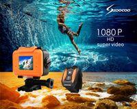 Wholesale Underwater Camera M Waterproof Camcorder quot LCD P Full HD Angle View Wifi mAh Sport Bike Camera Mini DV Diving Camera