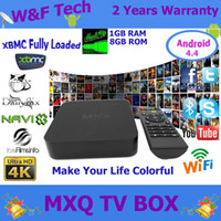 tv box - Quad Core MXQ Android Media Player Smart TV Box Amlogic S805 MXQ IPTV TV Box With XBMC KODI Fully Loaded Update MX TV Box
