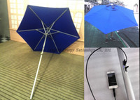 Polyester automatic solar shades - Solar Energy Product Sun Umbrella with Solar Panels Charger for iPhone etc Bar Umbrella Patio and Beach umbrella S02A