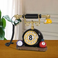 antique billiards - European and American style rustic retro creative personality fixed telephone landline Caller ID antique home Billiards Billiard