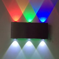 background bar - 9W wall lamps Aluminum LED wall lighting for DJ Club KTV Bar Corridor RGB background Spotlight indoor decor light AC85V V