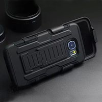 Wholesale For Samsung Galaxy S6 G9200 S6 edge Future Armor Impact Hybrid Hard Case Belt Clip Holster Kickstand Combo Rugged Shockproof