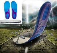 Wholesale MAN SIZE Sports Massaging Silicone Gel Insoles Arch Support Orthopedic Plantar Fasciitis Running Insole For shoes