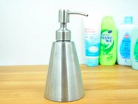Wholesale European stainless steel kitchen detergent bottles luquid soap dispenser points bottling bath soap ML
