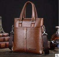 Wholesale new men real cowhide business casual men bag briefcase computer bag portable oblique cross one shoulder bag