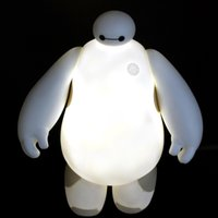 arrival nightlights - PrettyBaby New Arrival Big Hero Baymax LED Night Lighting Cute Table Lamp baymax nightlight Amazing Kids Gift in stock