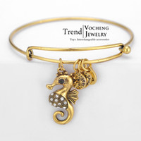 alloy animal bangle - Gold Silver Plated Custom Metal Bangle Pulseras Alex and Ani Luck Bracelets VG Vocheng Jewelry
