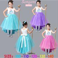 TuTu Summer Ball Gown Best Selling Frozen clothes Romance elsa princess dress Elsa & Anna dresses Costume kids grils' party dresses elsa dress skirt dress.