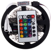 Wholesale 2016 New Rgb Led Strip m Smd Keys Ir Remote Controller Flexible Light Lamp v Home Decoration non waterproof ip68 Waterproof