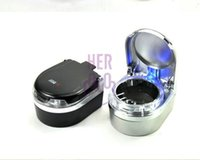 auto dashboard covers - Portable Car Auto dashboard Ashtray with Lid Cover Blue LED Light Black