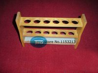 Wholesale Wooden colorimetric tube rack ml ml ml hole thick wood wooden tube rack Laboratory export manufacturers