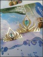 Wholesale Prettybaby Kids girls cm cm frozen tiara colors girl hear pin headgear crown baby girl cosplay accessories Pt0006
