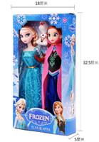 Wholesale 10PCS CM High quality The Movie Frozen Plush Princess Elsa and Anna Plush Dolls Great Toys For Children