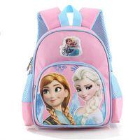Backpacks Polyester Women Fashion Children Frozen School Bags Baby Girls Elsa Anna Snow Queen Princess Shoulders Bag Cartoon Kids Backpack Reduced Pink Rose 3770