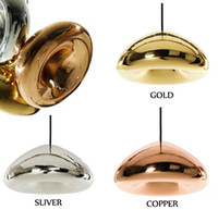 Wholesale Tom Dixon Void Copper Brass Bowl Mirror Glass Bar Art Modern E27 LED Pendant Lamp Hanging Wire Lighting chandelier Lights