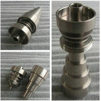 Wholesale Universal domeless titanium nails mm mm mm joint for male and female domeless nail gr2 quality suit for all the glass bongs