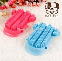 beauty shampoo - Fingers Palm Dog Brush Massage Beauty Shampoo Pets Cleaning Plastic Brushes Pet Special Plastic Hand Shower Bath