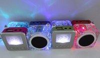 mini sd card reader - 2015 Popular mini portable speaker nizhi wireless speaker fm radio usb sd card reader speaker with alarm clock transparent amplifier TT028
