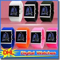 Wholesale Skmei White Silicone - Brand New Fashion SKMEI LED Men's Watches Silicone Straps Men Women Watch Digital Lighting Quartz Wrist Watch