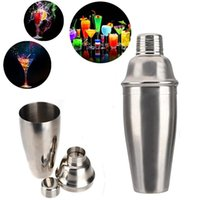 bar and wine - High luster and elegant appearance ml Stainless Steel oz Bar Party Cocktail Martini Shaker Wine Mixer Drink Portable TY1462