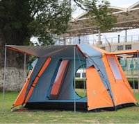 Wholesale Outdoor Hiking Camping Tents And Shelters Automatic portable New Style Person Double Layer Family Party Camping Beach Tent