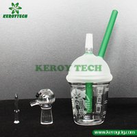 Wholesale Starbuck Cup glass bong types dabber oil rig Dabuccino Evol glass bubbler bongs dome nail hookah Hookah water filter pipe