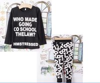 Wholesale Stylish Children Kids Girls Clothing Hoodie Tops Pants Trousers Outfits Set Age Y