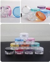 Wholesale Small Cream Jars Wholesale - 100pcs lot 3G Cream Jars, Screw Caps,Clear Plastic Makeup Sub-bottling,Empty Cosmetic Container,Small Sample Mask Canister