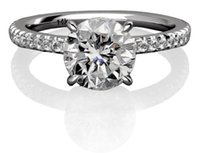 Wholesale 1 Ct Round Cut Certified F VS2 Diamond Engagement Ring Pave k White Gold