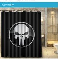 bathroom zone - 2016 New fabric waterproof Bathroom Punisher War Zone LOGO x160cm Shower Curtain Polyester Bath Curtain