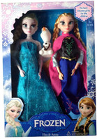doll - 3Pcs Set Cheap Frozen Anna Elsa olaf Toys Princess Dolls Action Figures Inch Elsa Anna Nice Christmas Gift For Kids Girls Free DHL