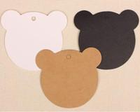 bear bookmark craft - 100 cm Lovely Bear Shape Kraft Paper Bookmark Handmade Craft Baking Hang Labels Party Wedding Gift Price Blank Tag