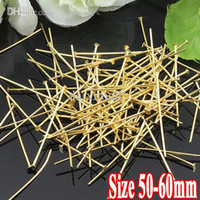 Wholesale 500G PIECE Gold Plated Metal Based mm mm mm long quot T quot shaped Head Pins Parts and Components for Jewelry Making