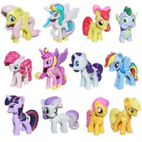 Wholesale My little Pony Loose Action Figures PVC Toys Anime Dolls Rainbow Pony Princess CM Littlest Figure Valentine Gift For Kids DHL Factory