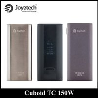 Wholesale Authentic Joyetech Cuboid W Box Mod Dual Battery External TC Mod Black Silver GreyVW VT Ti VT SS316 TCR Mode Upgraded W