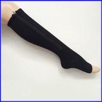 women socks - 100pairs Zipper Compression Leg Socks Women Zip Up Sock Ultrathin Breathable Black Beige Via DHL