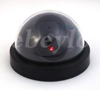 ccd dome camera - HOT Fake Dummy Dome Surveillance CAM Dummy Indoor Security CCTV Camera flashing for Home Camera LED