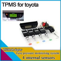 Wholesale TPMS for toyota with internal sensors PSI BAR display tyre pressure monitoring system with LCD display original factory design