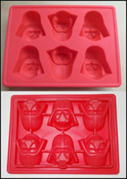 Wholesale 2015 Star Wars Silicone Ice Tray Ice Chocolate cake Cube Mold Falcon R2D2 Storm Trooper X Wing Darth Vader Hans Solo J080605 DHL FREE