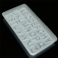 Wholesale DIY Letters Shaped Sugar Paste D Fondant Candy Chocolate Cake Decoration Tool Plastic Cake Mold