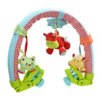 Wholesale Newborn Baby Bed Lathe Hanging Child Stroller Car Clip Hanging Toys Music bell baby toy year oldafe