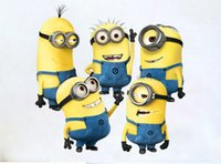Wholesale 2015 New High quality New Design Despicable Me Minion Movie Decal Removable Wall Sticker Home Decor Art Kids Nursery Loving Gift