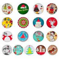 Wholesale Hot Sale buttons for crafts clothing buttons Christmas Snowman Wooden Buttons Fit Sewing and Scrapbook x2 cm