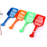 Wholesale Cat Pet Litter Scooper Shovel x cm Assorted Colors Plastic Litter Scoop Cleaning Tool DHL