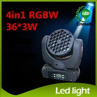 36x3W CREE RGBW LED Faisceau Light Wash Moving Head Stage Lighting RGBW Led Cree Wash LED Moving Head Light LED de scène