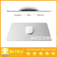 Wholesale 2015 New Design Aluminium Mouse Pads Metal Surface Alloy Double face Mouse Mat Simplicity Cool Slimer Compatiable With Macbook DHL Freeship