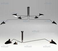 Wholesale Serge Mouille Pole Pendent Lamp Sabre Rattling Swing Duckbill Ceiling Lamp Metal Dining Room Ceiling Lamp mechanical design lighting heads