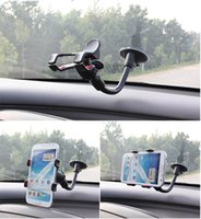 Wholesale Rotating Degree Car Holder Universal Windshield Mount Bracket For Pad Iphone Samsung Nokia Sony GPS Camera Recoder Mobile Phone Holder