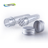 plastic test tubes - New x ml mask bath salt test PET tube with aluminum cap cc clear plastic cosmetic tube Cosmetic Packaging