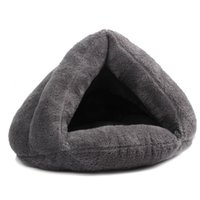 Wholesale 2016 New Winter Warm Pet House Thicken Soft Cotton Coral Fleece Dog Bed House Plush Pet Beds Cat Dog Plush House Bed Solid Color